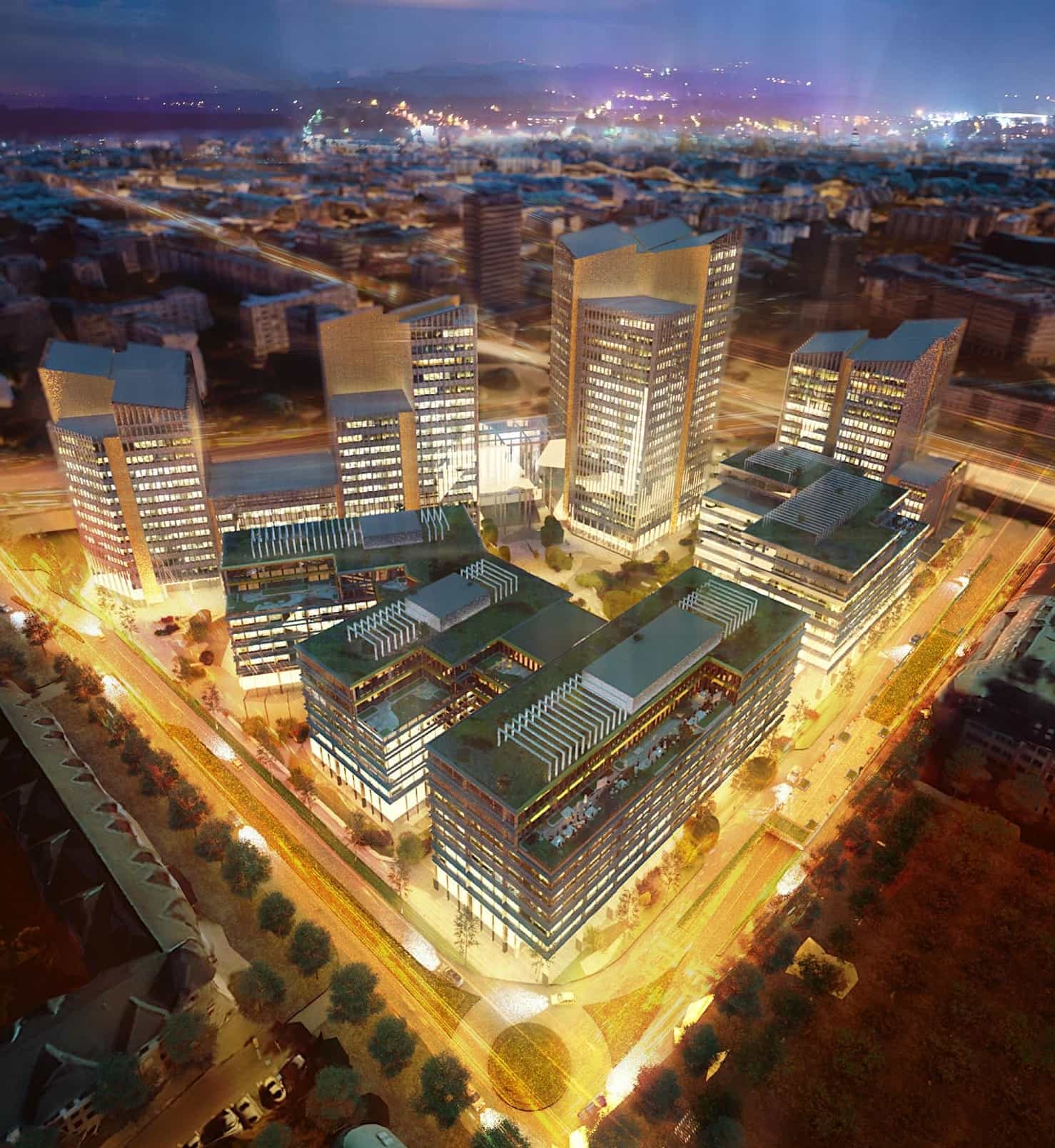 Hb Reavis Starts Construction Of New City Centre