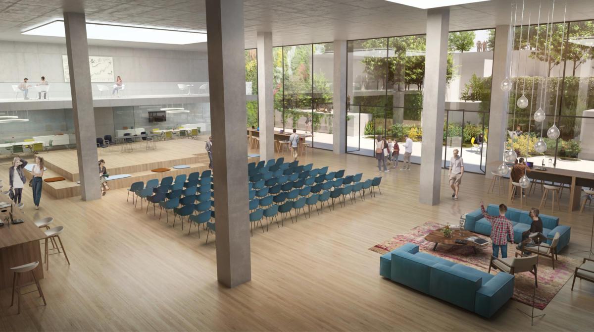 DSTRCT.Berlin biophilia auditorium